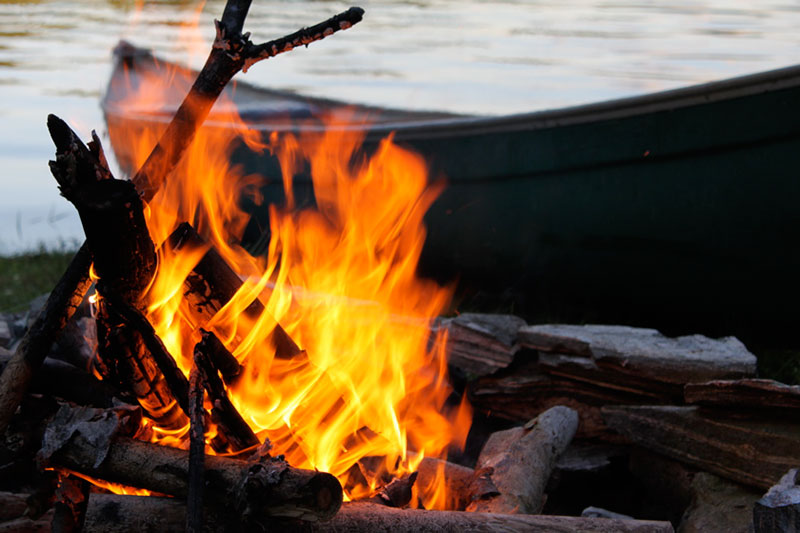 Fires by the shore