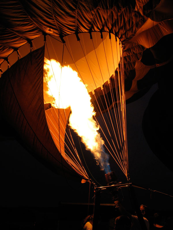 Firey balloon ride